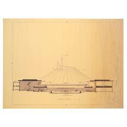 Set of (20) Disneyland blueprints for Space Mountain.