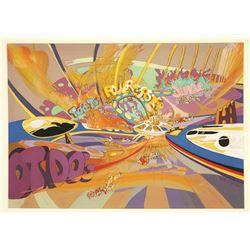 Signed Walt Peregoy Original Concept Painting for EPCOT