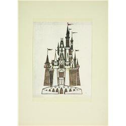 Walt Disney World Cinderella Castle Logo pre-opening Concept Art.