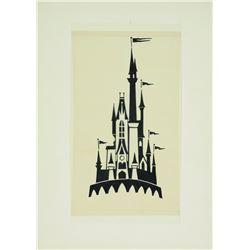 Walt Disney World Cinderella Castle Logo pre-opening Concept Art .