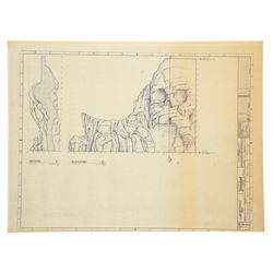 Set of (74) Blueprints for Disneyland's Peter Pan's Flight Attraction