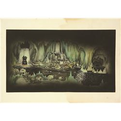 Lot of seven (7) Imagineering Development paintings for a Disney attraction that was never produced,