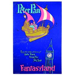 Rare Original Disneyland Peter Pan's Flight First-pull Attraction Poster.