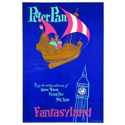 Original Disneyland Peter Pan's Flight Attraction Poster