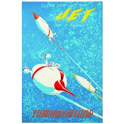 "Rare Disneyland  ""JET""  attraction poster."