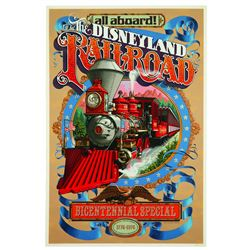 Disneyland Railroad Bicentennial Special Attraction Poster
