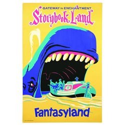 Original Disneyland Storybook Land  Attraction Poster.