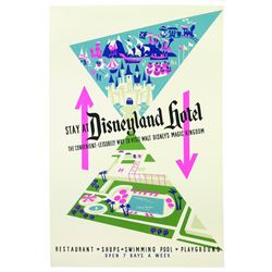 Original Disneyland Hotel Attraction Poster.