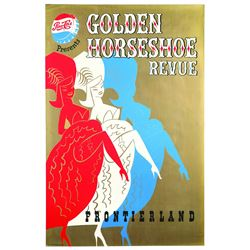 Rare Original Golden Horseshoe Review Attraction Poster.