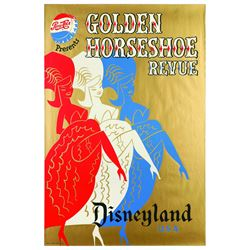 Original Disneyland Golden Horseshoe Review  Attraction Poster