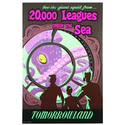 Original Disneyland 20,000 Leagues Under The Sea Attraction Poster