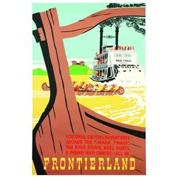 Original Disneyland Frontierland Attraction Poster