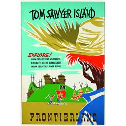 Rare Original Disneyland Tom Sawyer Island Attraction Poster.
