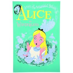 Original Disneyland Alice in Wonderland Attraction  poster