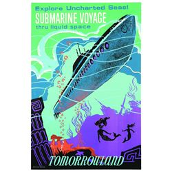 Original Disneyland Submarine  Voyage  Attraction Poster.