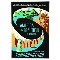 Disneyland America The Beautiful in Circarama Attraction Poster