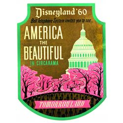 Disneyland America The Beautiful in Circarama Lamppost Shield