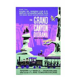 Original Disneyland Railroad via Grand Canyon Diorama Attraction Poster