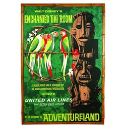 ORIGINAL DISNEYLAND ENCHANTED TIKI ROOM ATTRACTION POSTER.