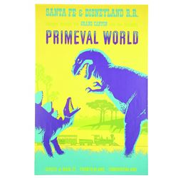 Original Disneyland Primeval World  Attraction Poster.