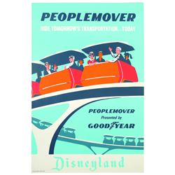 Original Disneyland PeopleMover Attraction Poster.