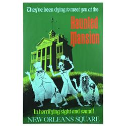 Original Disneyland Haunted Mansion Attraction Poster.