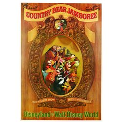 Original Disneyland  Country Bear Jamboree Attraction Poster.