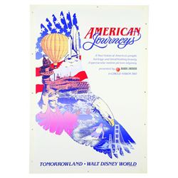 Original Walt Disney World American Journeys Attraction Poster