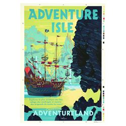 Euro Disney Adventure Isle  Attraction Poster