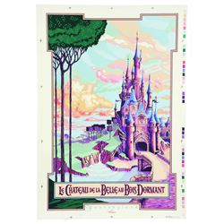 Euro Disney Sleeping Beauty's Castle Attraction Poster