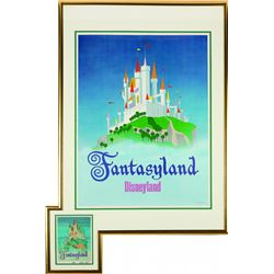 "Fantasyland  ""Near-Attraction"" poster, with Original Ralph Kent design artwork."