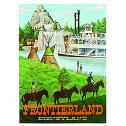 "Disneyland Frontierland ""Near-Attraction"" Poster"