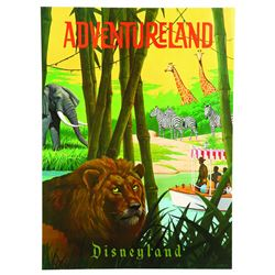 "Disneyland Adventureland ""Near-Attraction"" Poster"