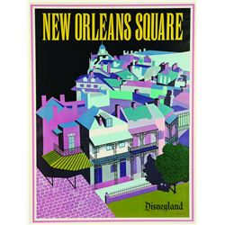 "New Orleans Square ""Near-Attraction"" poster"