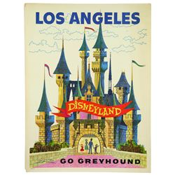 "Disneyland ""Go Greyhound"" Travel Poster"