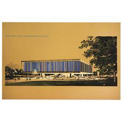 Welton Beckett United States Pavilion Presentation Poster