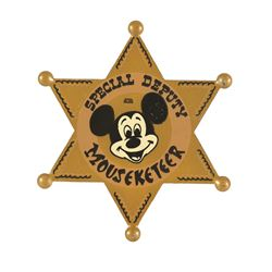 Mickey Mouse Club Talent Round-up Day prop Deputy Badge