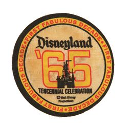 Disneyland 1965 Tencenial celebration patch