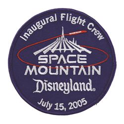 Space mountain inaugural flight patch