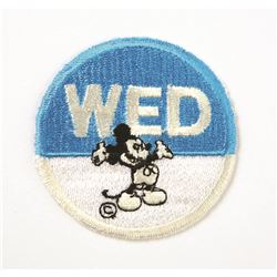 WED with mickey patch round blue and white