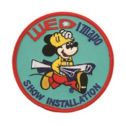 DISNEYLAND WED/MAPO SHOW INSTALLATION PATCH.