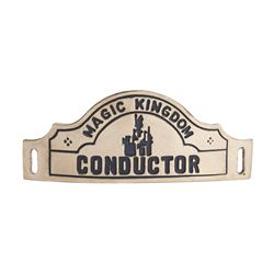 Magic Kingdom Railroad Conductor Hat Badge