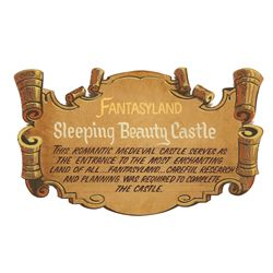 Fantasyland Sleeping Beauty Castle Plaque