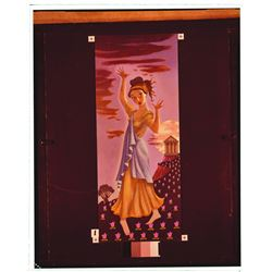 Collection of (6) Persephone, Haunted Mansion Changing Painting glass  slides