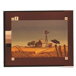 Collection of (6) Farm House, Haunted Mansion Changing Painting glass  slides