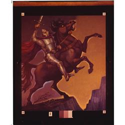 Collection of (6) Knight On Horseback, Haunted Mansion Changing Painting glass  slides