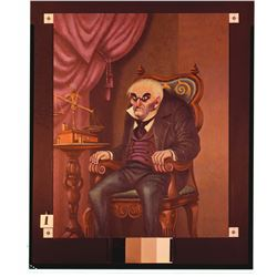 Collection of (5)Old Man, Haunted Mansion Changing Painting glass  slides