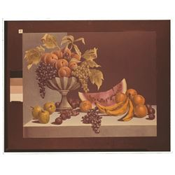 Bowl of Fruit, Haunted Mansion Changing Painting glass slide