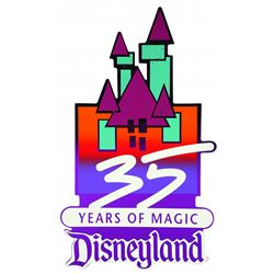 35th Anniversary Disneyland Lamp Post Sign