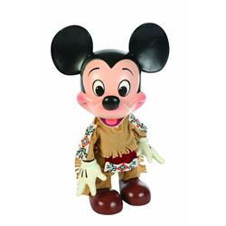 Disneyland Emporium window display figure, Mickey dressed in Frontierland costume, Very Good Conditi